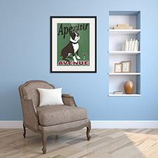 aeritif dog framed printt