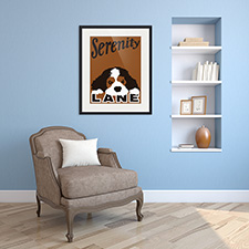 sleepy dog framed print